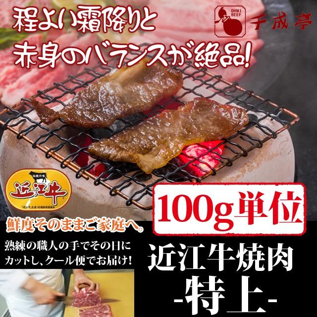 牛肉 焼肉 近江牛 特上 100g単位 便利な小分け対応 お肉ギフト のしOK