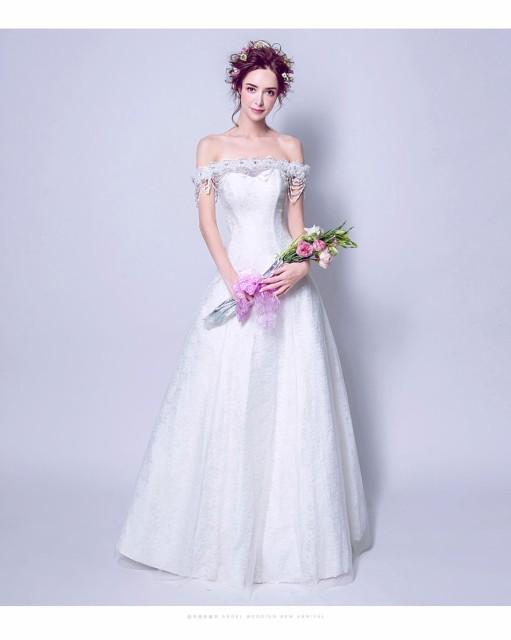 d75fa8c1cac7d トレーン 手作り オフショルダー ウェディングドレス 豪華 フォーマルドレス ロングドレス 素敵 パーティードレス 花嫁 挙式