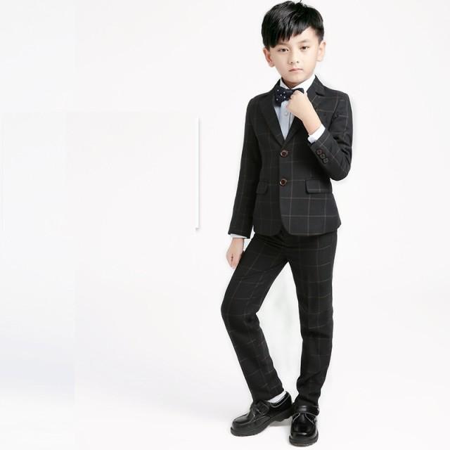 7ed8d5a184560 男の子キッズスーツ 5点セット 品質良い 子供スーツ チェック柄 人気 子供服 フォーマル
