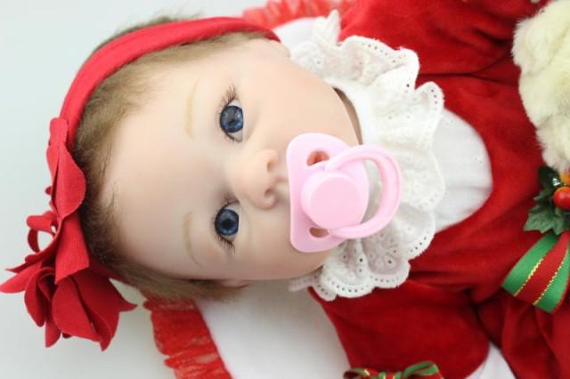お人形 きせかえ人形 赤ちゃん 人形 リアルドール ドール リボーンドー クリスマス キッズ 柔らかいビニル、布 55cm お人形遊び クリス