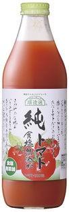 【ケース販売】順造選 トマトジュース 純トマト(食塩無添加) 1L×6本