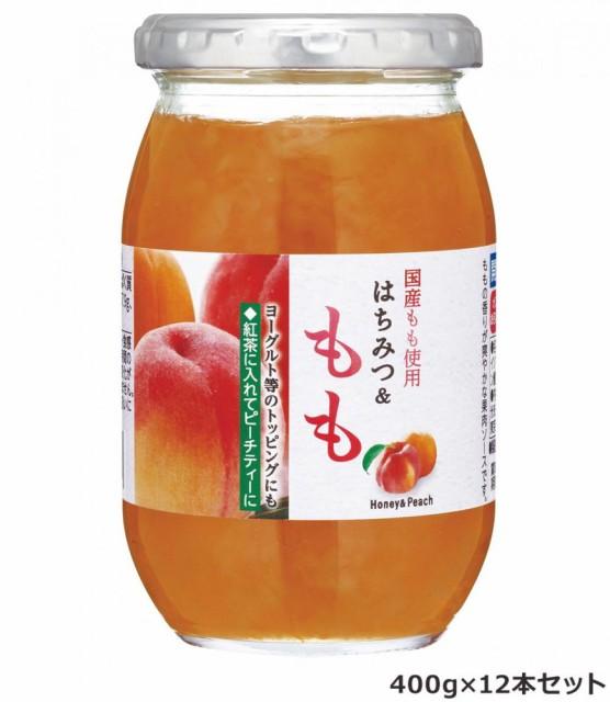 加藤美蜂園本舗 国産もも使用 はちみつ&もも 400g 12本セット
