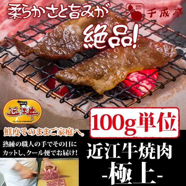 牛肉 焼肉 近江牛 極上 100g単位 便利な小分け対応 お肉ギフト のしOK
