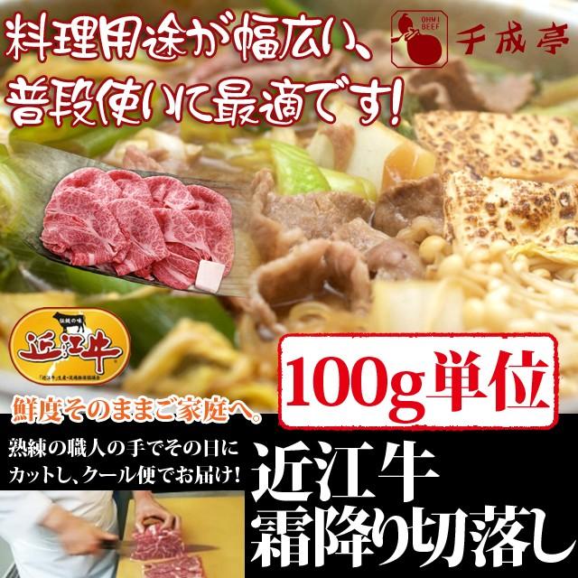 牛肉 近江牛 霜降り 切落し 100g単位 便利な小分け対応 お肉ギフト のしOK