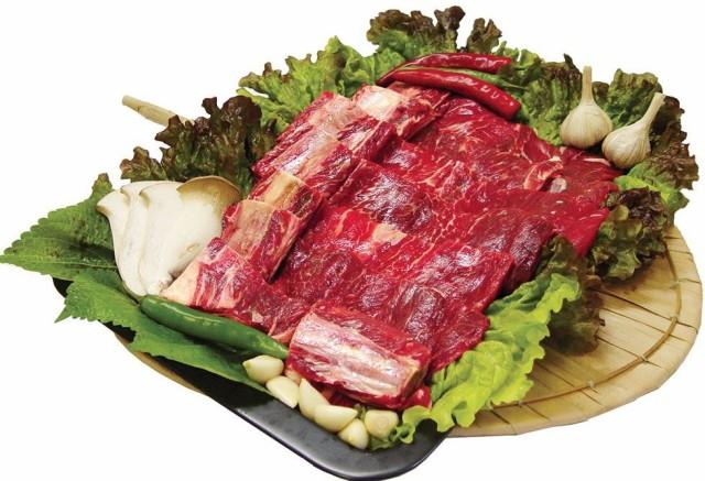 【クール便選択必要!】 牛開き骨付きカルビ 約1Kg ★韓国食品市場★韓国食材/牛肉/焼肉/牛カルビ/骨付き/焼肉用/アメリカ産