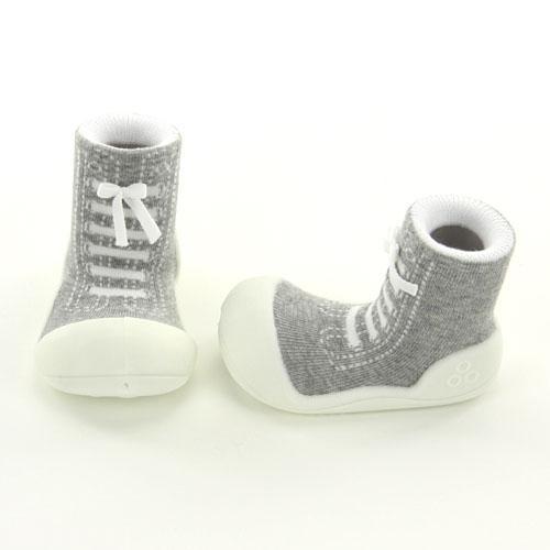 【宅配便指定商品】Baby feet ベビーフィートスニーカーズ グレー (サイズ:11.5) はじめてのたっち ZAKA-154