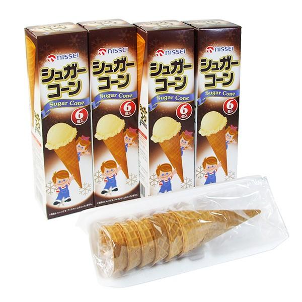 日世シュガーコーン(6入)×4箱 [ソフトクリーム・アイスクリーム用コーン]/送料別/常温/沖縄・離島送料加算
