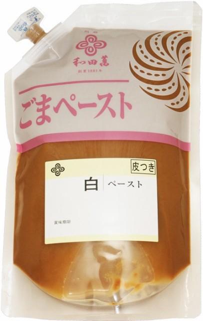 胡麻屋の底力 香る白ごまペースト(皮つき) 1kg     【全国宅配便 送料無料】【白練り胡麻 無糖 無添加 大容量】
