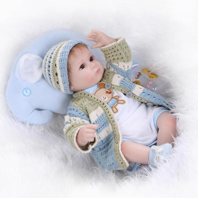 お人形 きせかえ人形 赤ちゃん 人形 リアルドール ドール リボーンドール キッズ 柔らかいビニル、布 42cm お人形遊び ハロウィン ク