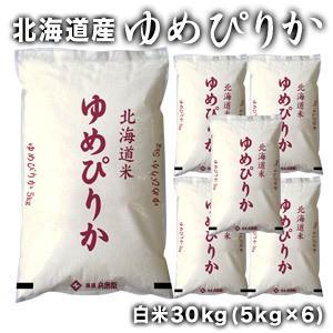 【送料無料】[令和元年産]北海道産 ゆめぴりか 白米30kg[5kg×6]【5〜8営業日以内に出荷】