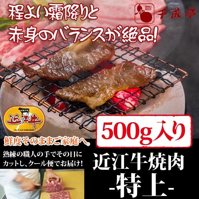 牛肉 焼肉 近江牛 特上 500g入り お肉ギフト のしOK お中元 ギフト
