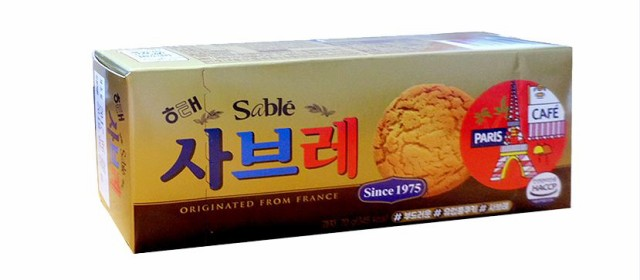 ヘテ サブレ 105g★韓国食材/韓国食品/韓国お菓子/チョコレート/パイ/お菓子/韓国スナック