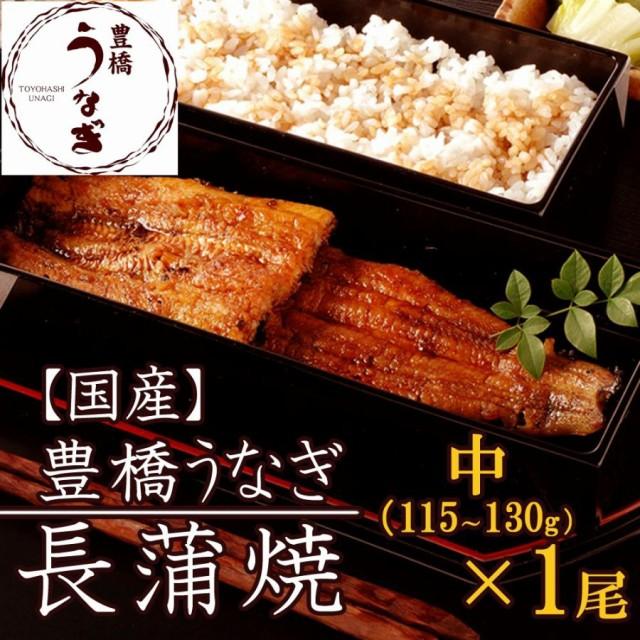 豊橋うなぎ蒲焼き 中115-130g×1尾 約1人前 国産 ウナギ 鰻 送料無料
