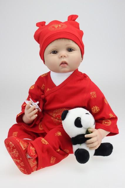 お人形 きせかえ人形 赤ちゃん 人形 リアルドール ドール リボーンドール キッズ 柔らかいビニル、布 55cm お人形遊び クリスマス