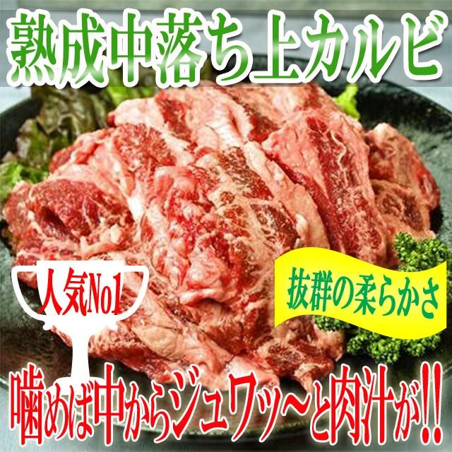 プレミアム認定のお店! 肉 熟成中落ち上カルビ1kg/カルビ/熟成カルビ/カナダまたはアメリカ産/牛/霜降り中落カルビ/冷凍A pre