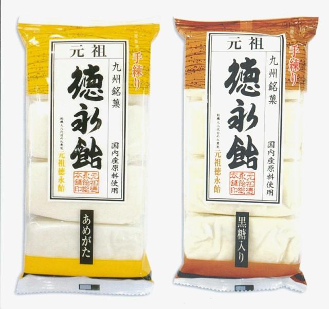 【元祖 徳永飴総本舗】徳永飴(あめがた)(黒糖入り)8枚-各3袋6袋セット
