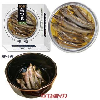 【●お取り寄せ】国分 K K 缶つまプレミアム びわ湖産 稚鮎油漬け 固形量40g(内容総量80g)