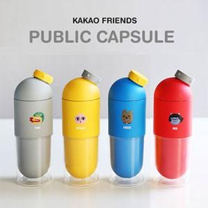 (先払いのみ) 韓国キャラクターグッズ KAKAO FRIENDS(カカオフレンズ)パブリック カプセル タンブラー / ボトル(490ml/4種1択)