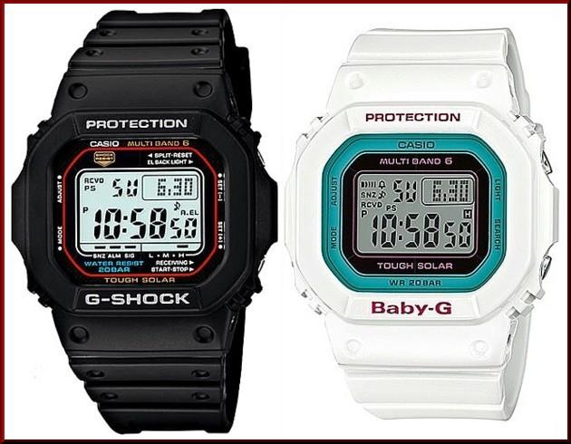 カシオ/G-SHOCK【CASIO/BABY-G】ペアウォッチ ソーラー電波腕時計 ブラック/ホワイト【国内正規品】GW-M5610-1JF/BGD-5000-7BJF