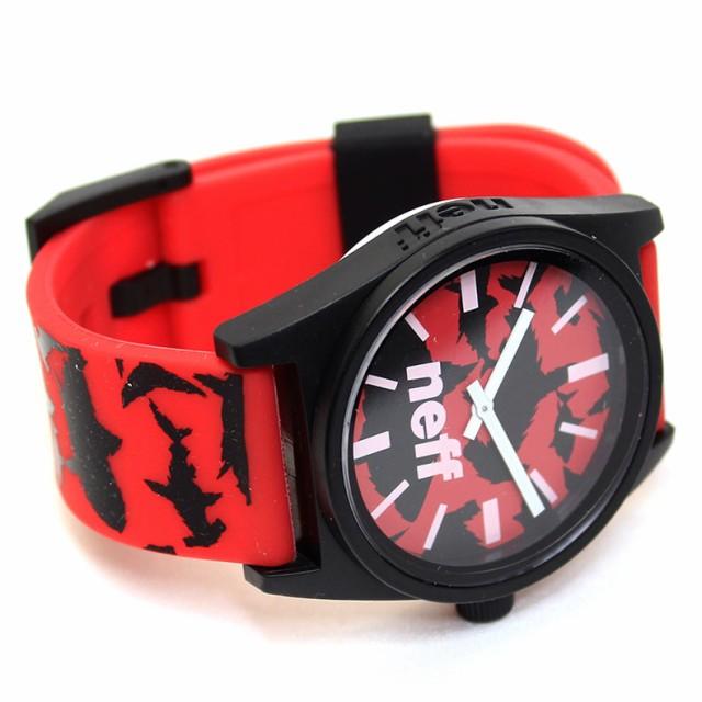 ネフ NEFF WATCH ウォッチ 時計 腕時計 スケーター ストリート サーフ スノボー メンズ レディース レッド ブラック nf0208-awmm