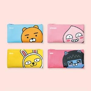 (先払いのみ) 韓国キャラクターグッズ KAKAO FRIENDS(カカオフレンズ) ビッグヘッド 一字 ペンケース 筆箱(4種1択)