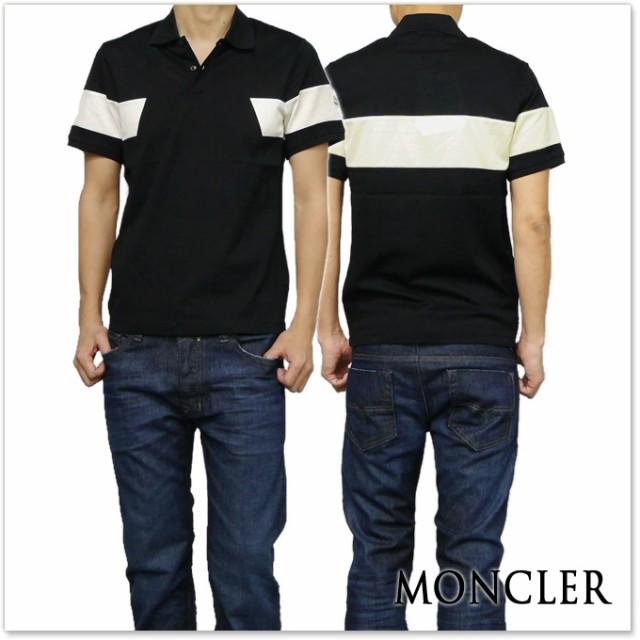 【セール 35%OFF!】MONCLER モンクレール メンズポロシャツ 83194-00-84673 ブラック×アイボリー