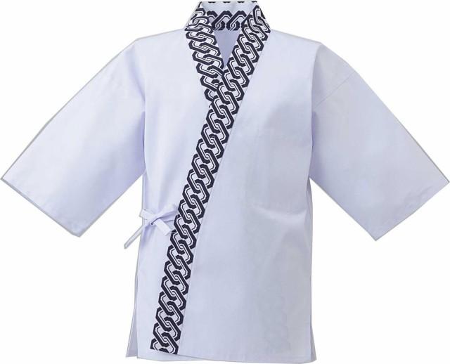 T/Cツイル元禄衿白甚平 (和風白衣甚平) (厨房 調理 白衣)