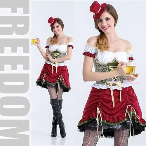 コスプレ 衣装 民族衣装 制服 激安 セール☆肩出し&編み上げの可愛いドイツ民族