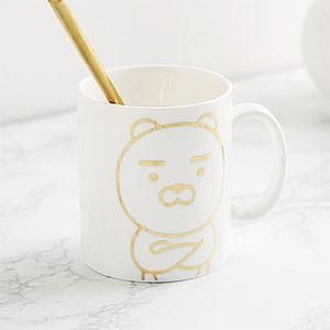 (先払いのみ) 韓国キャラクターグッズ KAKAO FRIENDS(カカオフレンズ) ゴールドライン マグカップ(7種1択)