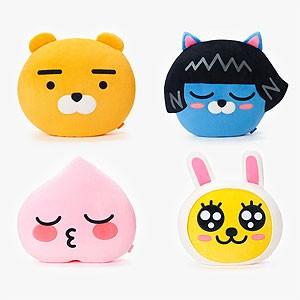 (先払いのみ) 韓国キャラクターグッズ KAKAO FRIENDS(カカオフレンズ) 大型 フェイス クッション ぬいぐるみ (4種1択)