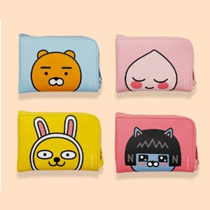 (先払いのみ) 韓国キャラクターグッズ KAKAO FRIENDS(カカオフレンズ) ジッパー ミニ財布 / カードケース(4種1択)