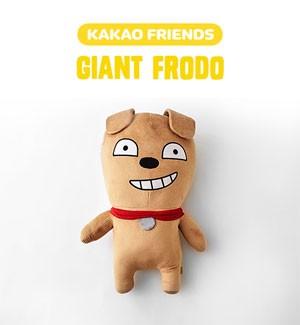 (先払いのみ) 韓国キャラクターグッズ KAKAO FRIENDS(カカオフレンズ) FRODO フロド ジャイアント 大型 ぬいぐるみ(50x85cm)