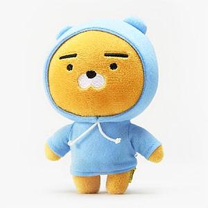 (先払いのみ) 韓国キャラクターグッズ KAKAO FRIENDS(カカオフレンズ) RYAN ファッショニスタ ミニ ぬいぐるみ フード(15cm)