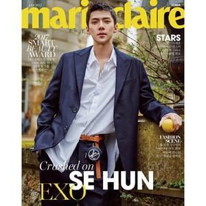 韓国女性雑誌 marie claire 2017年 7月号 (EXOのセフン表紙/イ・ジュンギ、イ・ジェフン、チョン・ソミン&イ・ジュン、チョンハ記事)