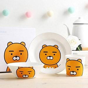 (先払いのみ) 韓国キャラクターグッズ KAKAO FRIENDS(カカオフレンズ) 1人用 テーブルウエア 食器セット(4種1択)
