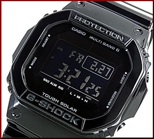 カシオ/G-SHOCK【CASIO/Gショック】ソーラー電波腕時計 グロッシー・ブラックシリーズ GW-M5610BB-1 海外モデル