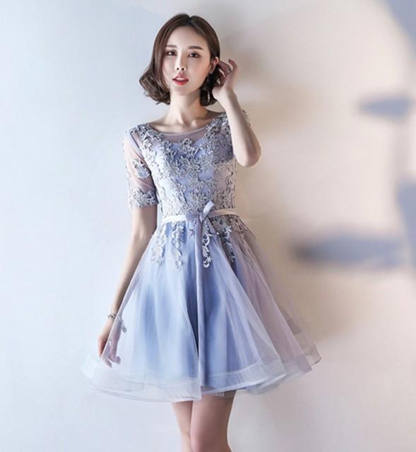 超人気新品 高級感パーティードレス 結婚式 ドレスレースドレス Aライン 大きいサイズ
