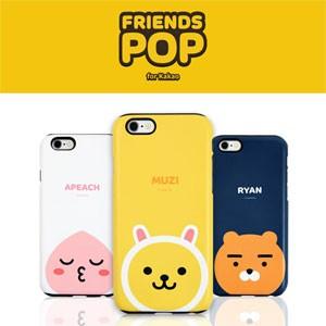 (先払いのみ) 韓国グッズ KAKAO FRIENDS(カカオフレンズ) iPhone シリコン 二重 バンパーケース(24種1択)