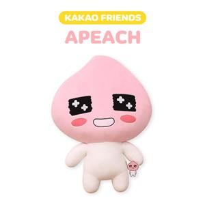 (先払いのみ) 韓国キャラクターグッズ KAKAO FRIENDS(カカオフレンズ) APEACH アピーチ ジャイアント 大型 ぬいぐるみ(60x84cm)