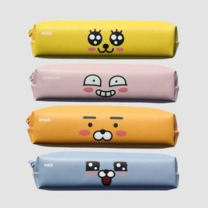 (先払いのみ) 韓国キャラクターグッズ KAKAO FRIENDS(カカオフレンズ) スリム 四角 ペンケース 筆箱 (4種1択)