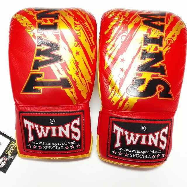新品 正規 TWINS 本格 パンチンググローブ TW赤金 /色選択 /大人/新品/ムエタイ/本革製/ゴム