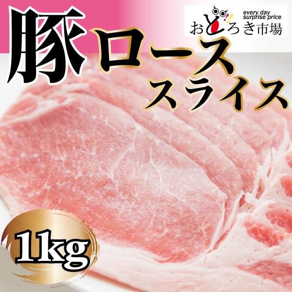 豚肉 豚ロース スライス 1kg 生姜焼き 選べるカット 業務用