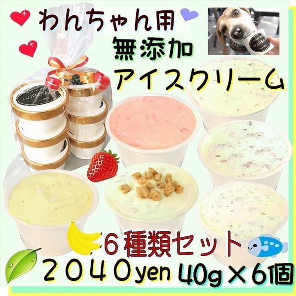 犬 おやつ 無添加 ミニ アイス クリーム 6種類 セット 安心 暑さ 夏 ギフト 熱中症 対策 冷たい 人気 ワンバナ WANBANA