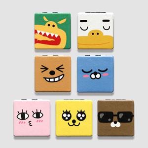 (先払いのみ) 韓国キャラクターグッズ KAKAO FRIENDS(カカオフレンズ) 二重 四角 手鏡 ハンドミラー (7種1択)