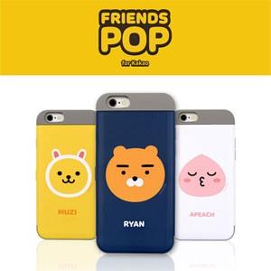 (先払いのみ) 韓国グッズ KAKAO FRIENDS(カカオフレンズ) iPhone6/6s iPhone6+/6s+ カード二重バンパーケース(カード収納/16種1択)