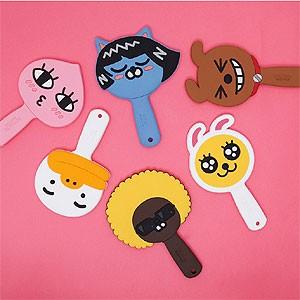 (先払いのみ) 韓国キャラクターグッズ KAKAO FRIENDS(カカオフレンズ) ゴム ハンドミラー 手鏡(6種1択)