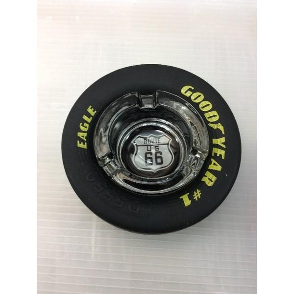 ルート66 ROUTE 66 レーシングタイヤ灰皿 (BK) アッシュトレイ(Sサイズ) 喫煙具ルート66 グッズルート66