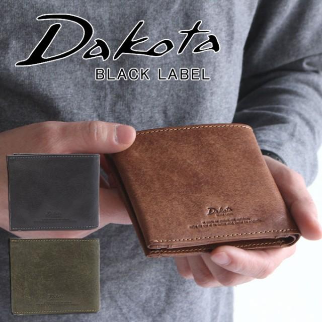 ポイント10倍 Dakota ダコタ 二つ折り財布 ブラックレーベル BLACK LABEL ガウディ 牛革 折財布 626800 メンズ 財布 正規品 ギフト