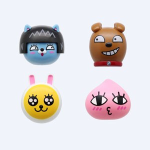 (先払いのみ) 韓国キャラクターグッズ KAKAO FRIENDS(カカオフレンズ) フィギュア 壁掛け 歯ブラシ キャップ(4種1択)