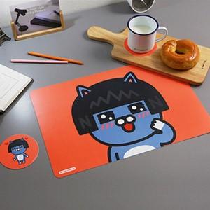 (先払いのみ) 韓国キャラクターグッズ KAKAO FRIENDS(カカオフレンズ) テーブルマット&コースターセット(7種1択)